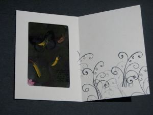 Inside the butterfly window card