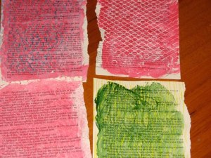 painted text pages