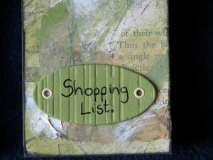 Shopping List close-up