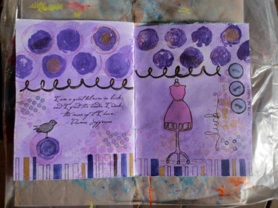 Art Journal - Luck page