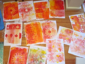many gelli plate prints