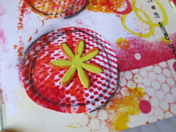 Using gelli plate prints in art journaling