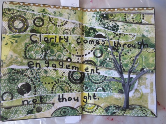 Using gelli prints for art journal layouts