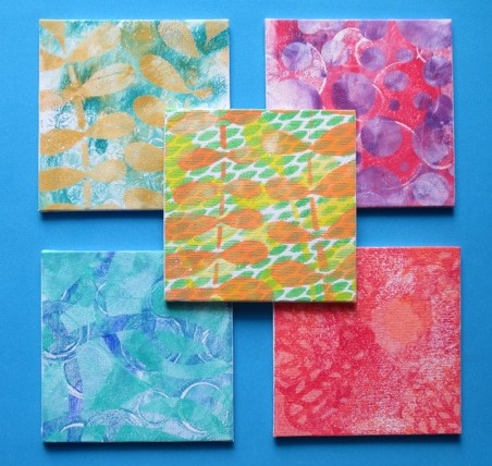 Mixed media art Gelli Plate Prints